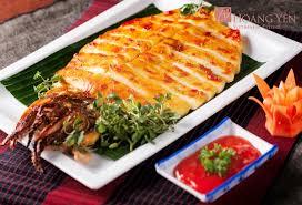 Các món ăn với mực một nắng nướng